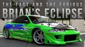 Fast & Furious Diecast Model 1/24 1995 Brian's Mitsubishi Eclipse