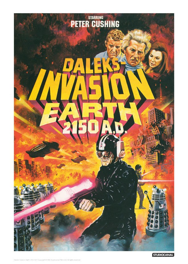 Doctor Who Art Print Invasion Earth Illustrative 42 x 30 cm