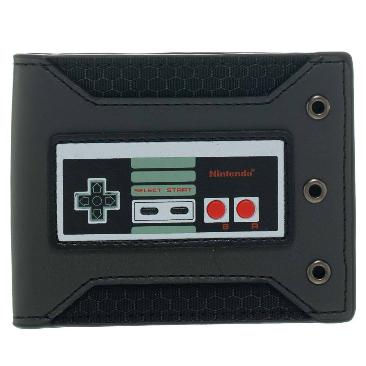 Nintendo Controller Rubber Badge Bifold Wallet