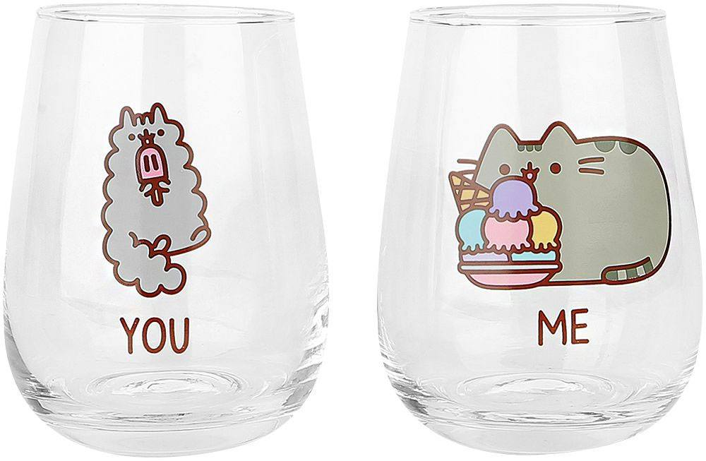 Pusheen Drinking Glasses 2-Pack You & Me
