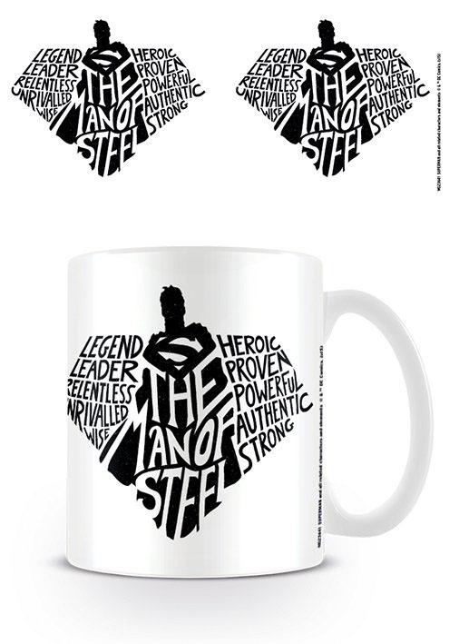 Superman Mug The Man Of Steel Typography