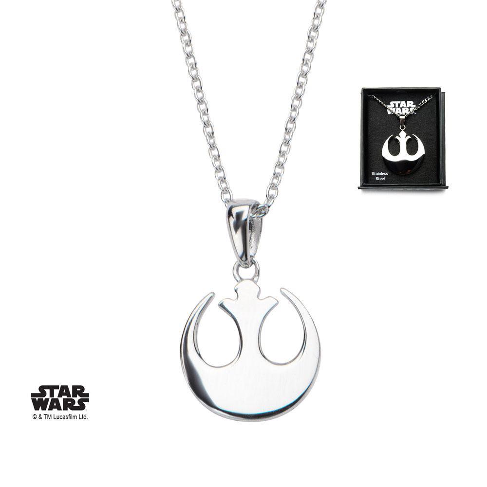 Star Wars Necklace Rebel Alliance Symbol 46 cm (Sterling Silver)