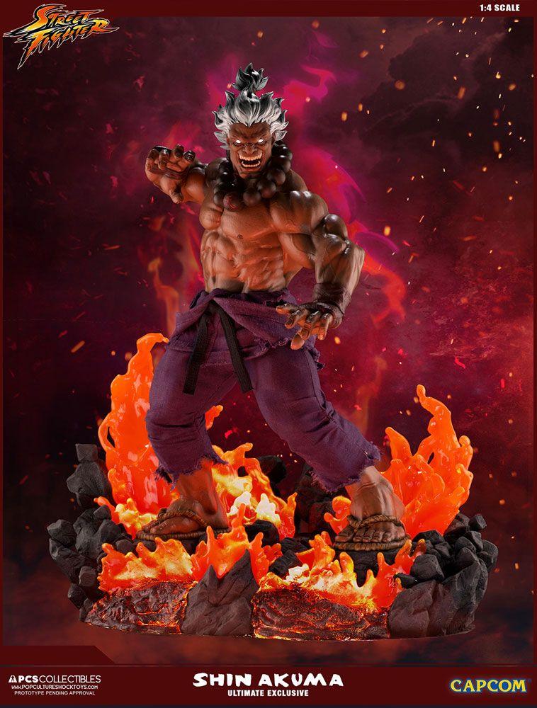 Street Fighter Mixed Media Statue 1/4 Shin Akuma Ultimate Exclusive 58 cm
