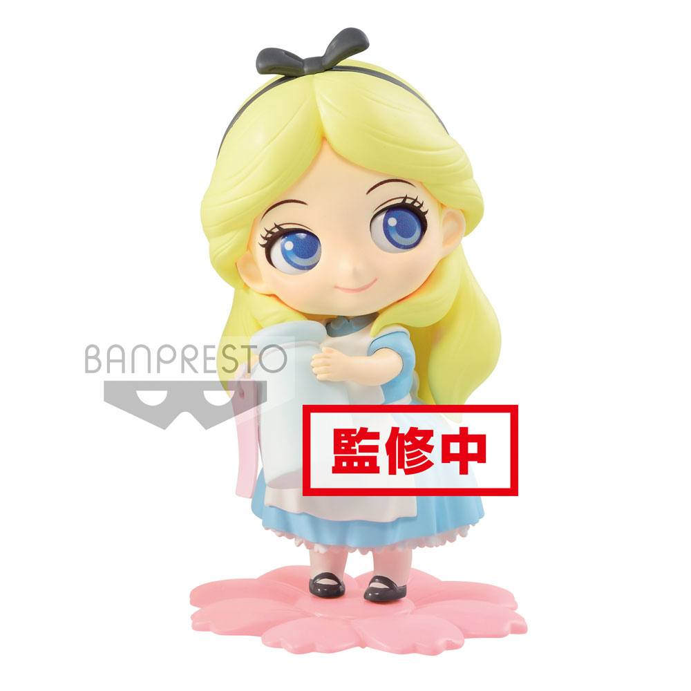 Disney Q Posket Sweetiny Mini Figure Alice Milky Color Ver. 10 cm