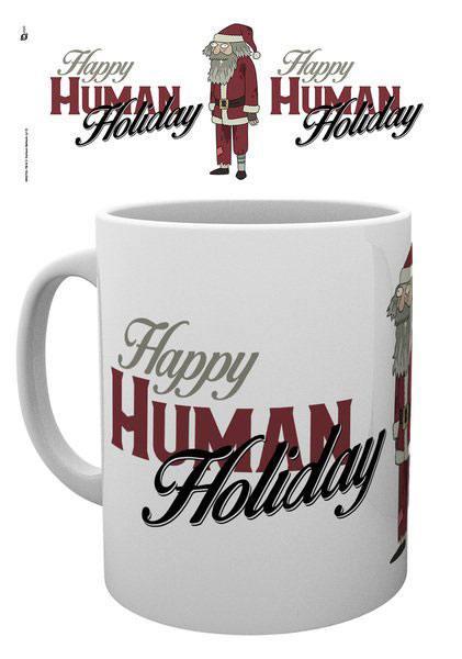 Rick and Morty Mug XMAS Happy Human Holiday