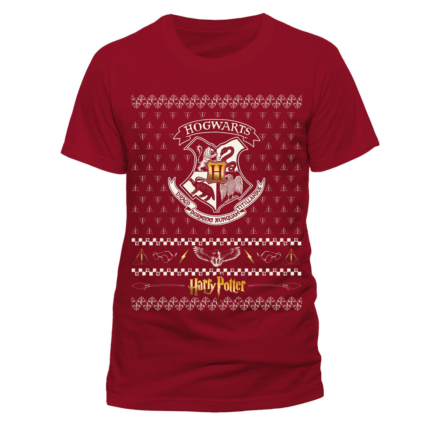 Harry Potter T-Shirt Xmas Crest Size M