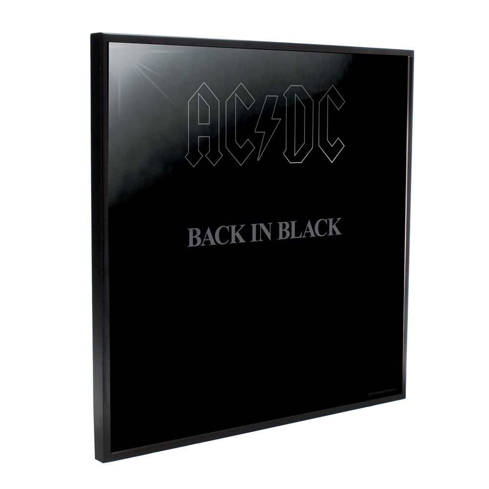 AC/DC Crystal Clear Picture Back in Black 32 x 32 cm