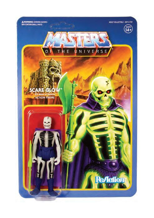 Masters of the Universe ReAction Action Figure Wave 4 Scare Glow 10 cm