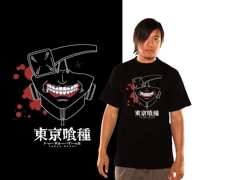Tokyo Ghoul T-Shirt Kaneki Mask Size M