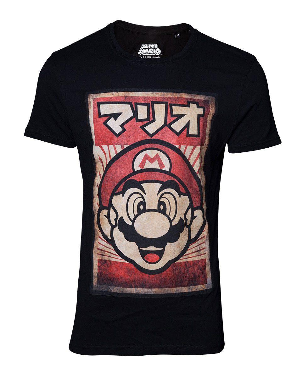 Super Mario T-Shirt Propaganda Poster Inspired Mario  Size S