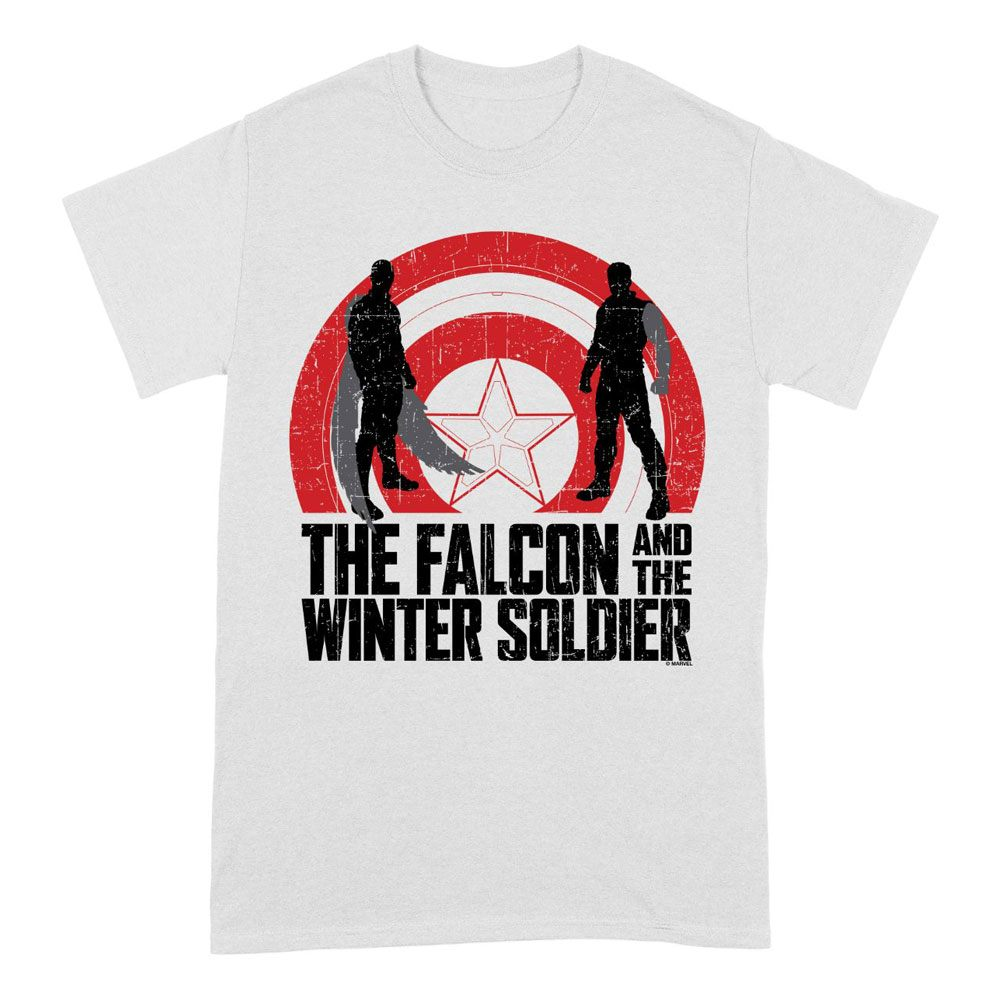 The Falcon and the Winter Soldier T-Shirt Shield Sillhouettes Size L