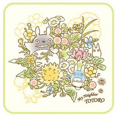 My Neighbor Totoro Mini Towel Spring Bouquet 25 x 25 cm