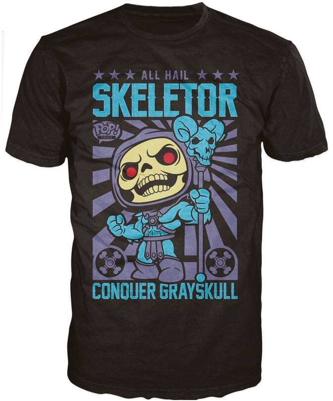 Masters of the Universe POP! Tees T-Shirt Skeletor Size L