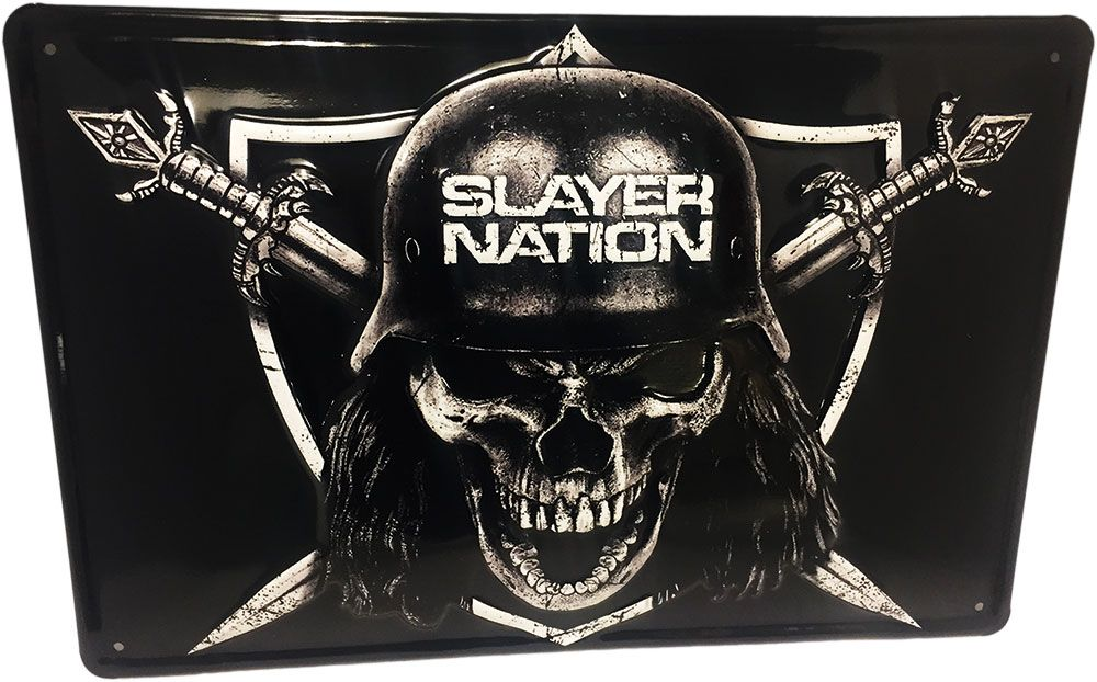 Slayer Tin Sign Slayer Nation 20 x 30 cm