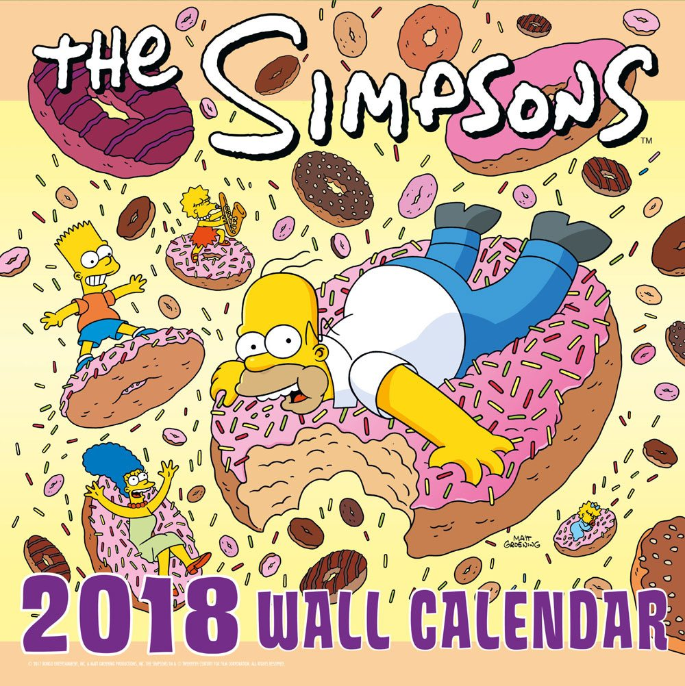 Simpsons Calendar 2018 English Version*