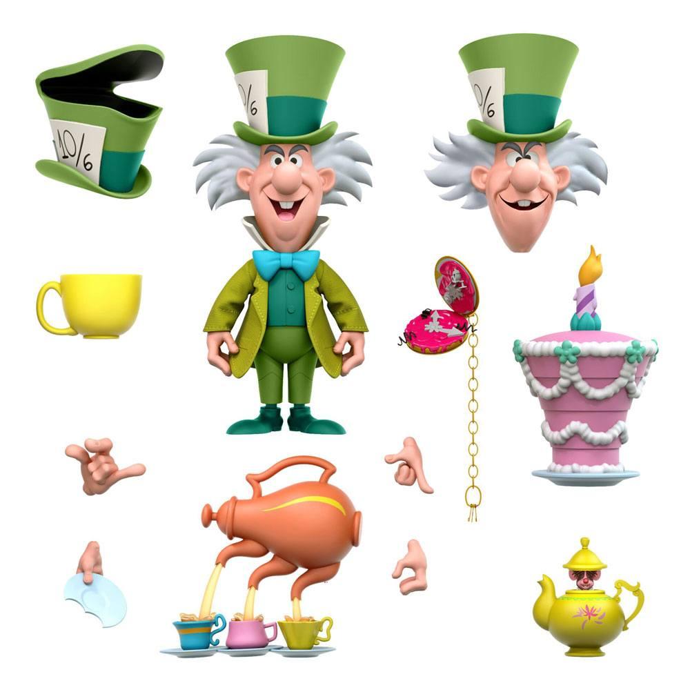 Alice in Wonderland Disney Ultimates Action Figure The Tea Time Mad Hatter 18 cm