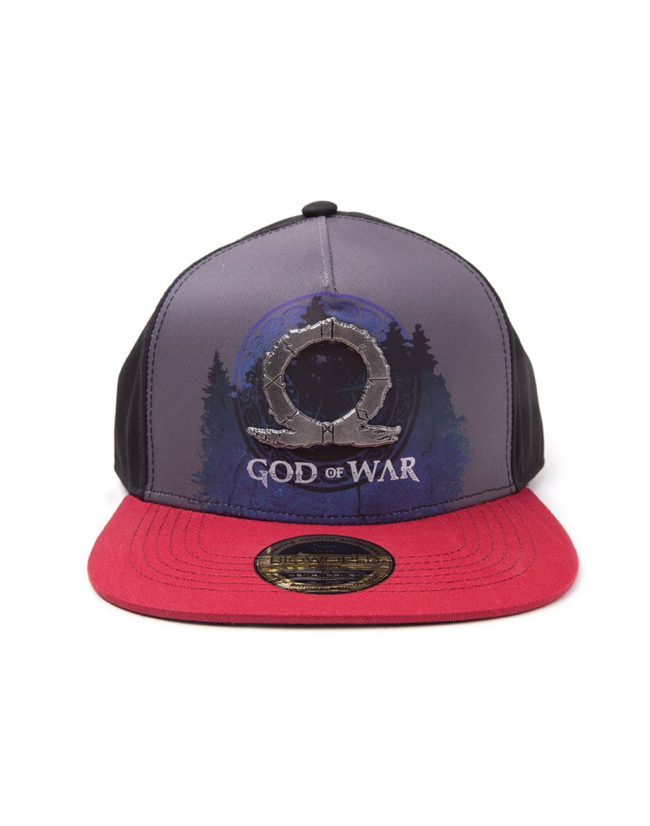 God Of War Sublimation Print Metal Badge Snapback Cap Logo
