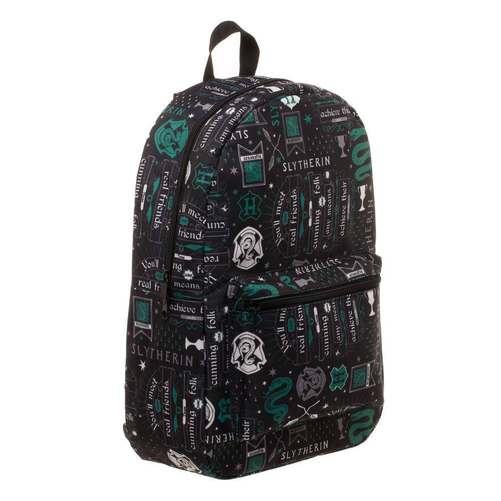 Harry Potter Backpack Icon Print Slytherin