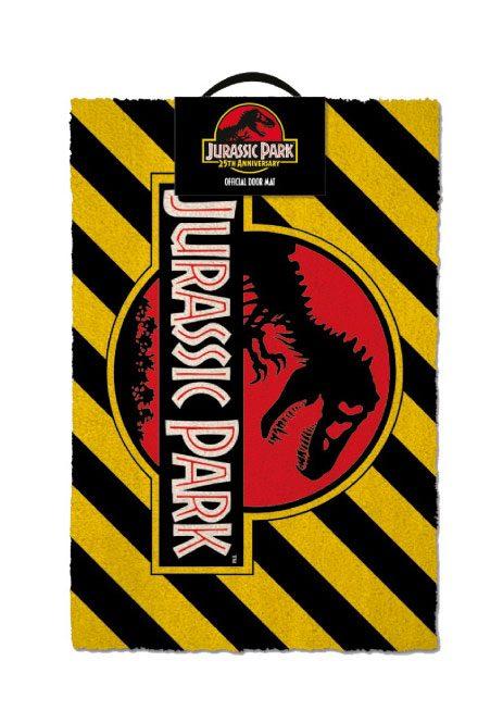 Jurassic Park Doormat Warning 40 x 60 cm