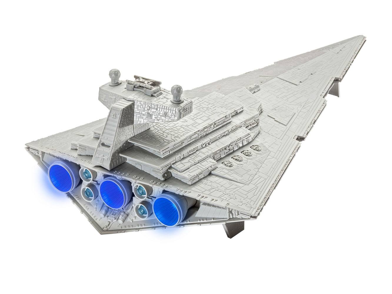 Star Wars Build & Play Model Kit with Sound & Light Up 1/4000 Imperial Star Destroyer