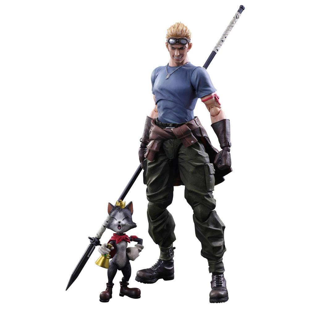 Final Fantasy VII Advent Children Play Arts Kai Action Figures Cid Highwind & Cait Sith 9 - 27 cm