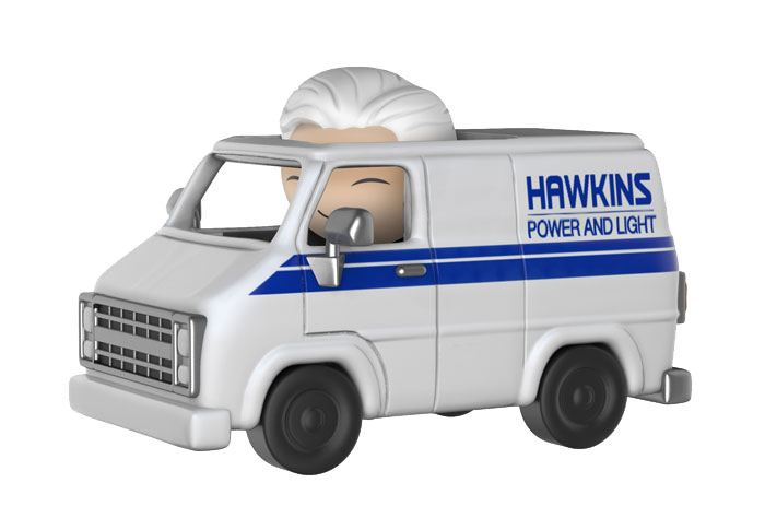 Stranger Things Dorbz Ridez Vinyl Vehicle with Dorbz Figure Brenner & Hawkins Van 24 cm