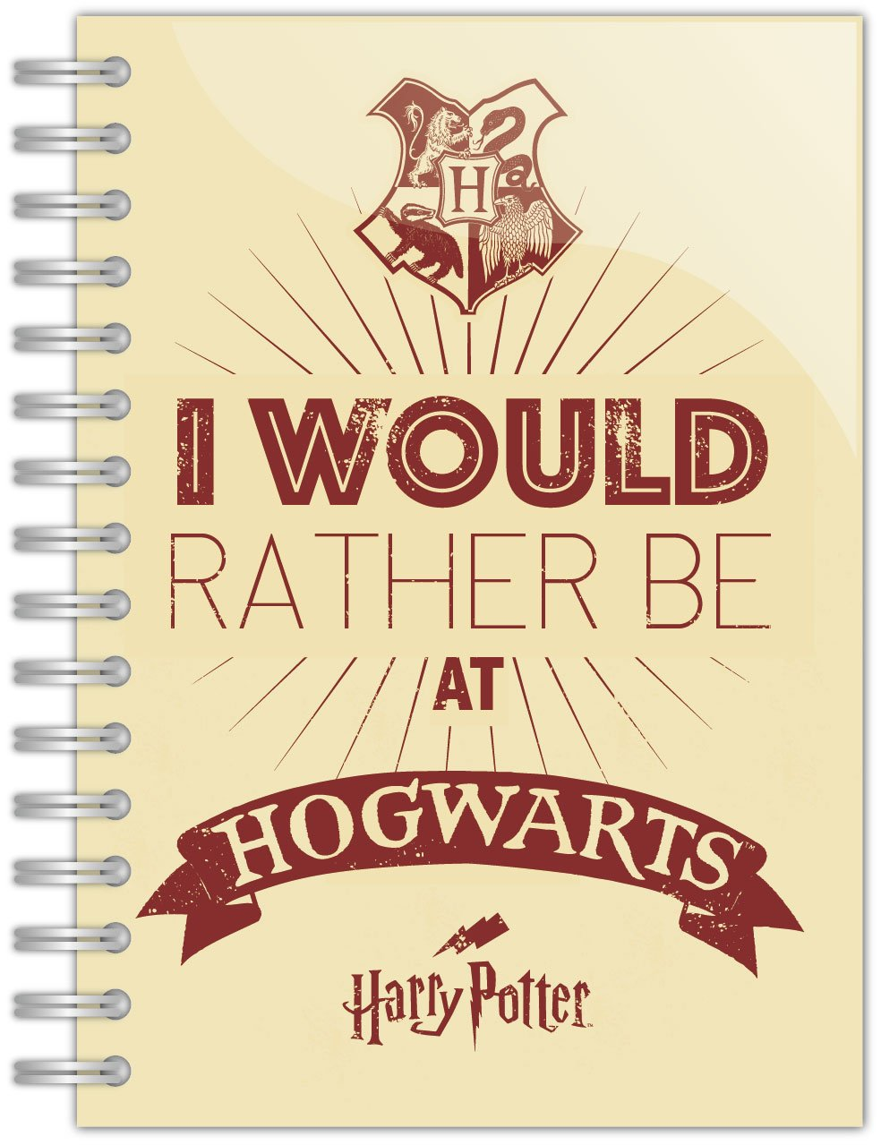 Harry Potter Notebook A5 I'd rather be at Hogwarts