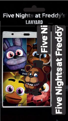 Five Nights At Freddy's Lanyard with Rubber Keychain Faz Bear