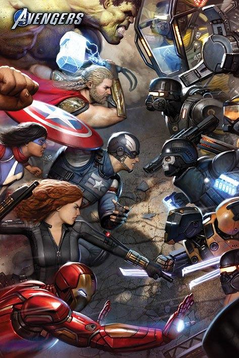 Avengers Gamerverse Poster Pack Face Off 61 x 91 cm (5)