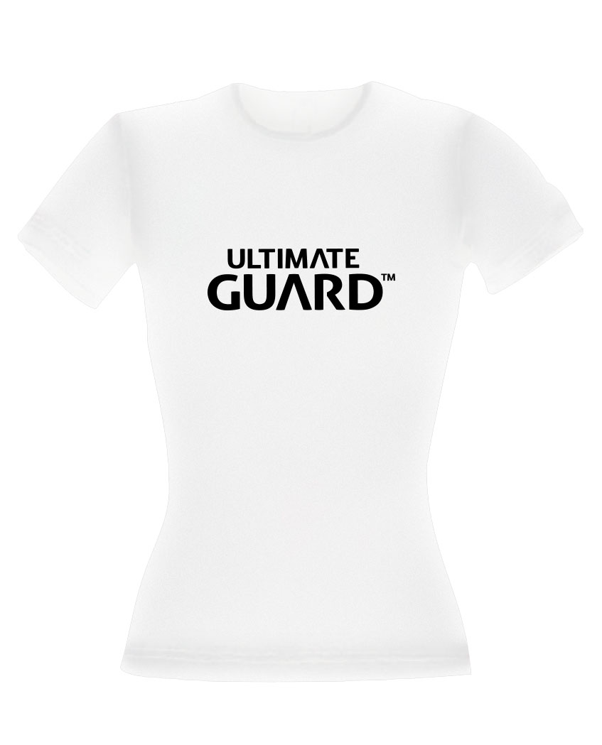 Ultimate Guard Ladies T-Shirt Wordmark White Size XS