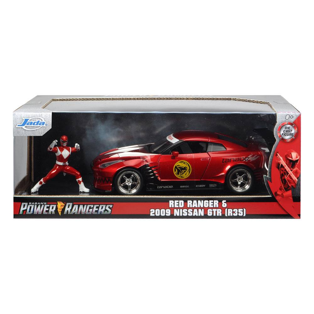 Power Rangers Hollywood Rides Diecast Model 1/24 2009 Nissan GT-R R35 with Figure