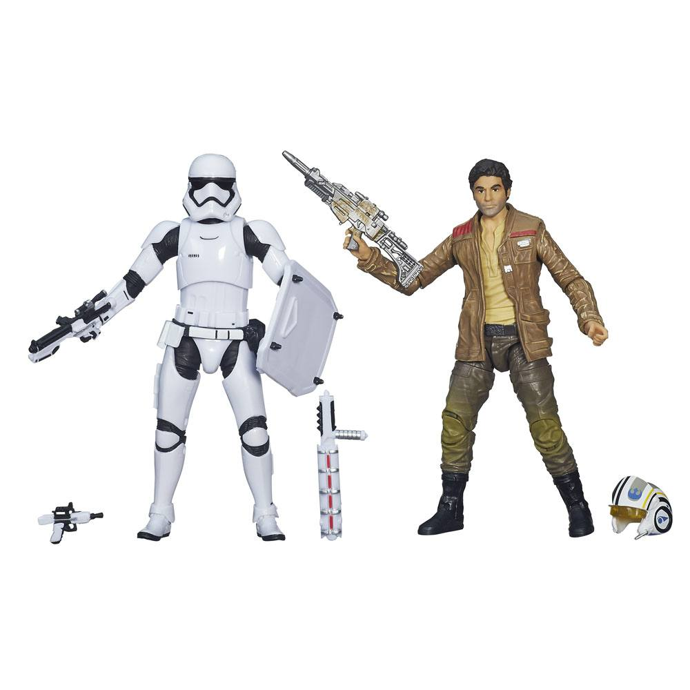 Star Wars: The Force Awakens The Black Series Poe Dameron and Stormtrooper Exclusive 2-Pack Action F