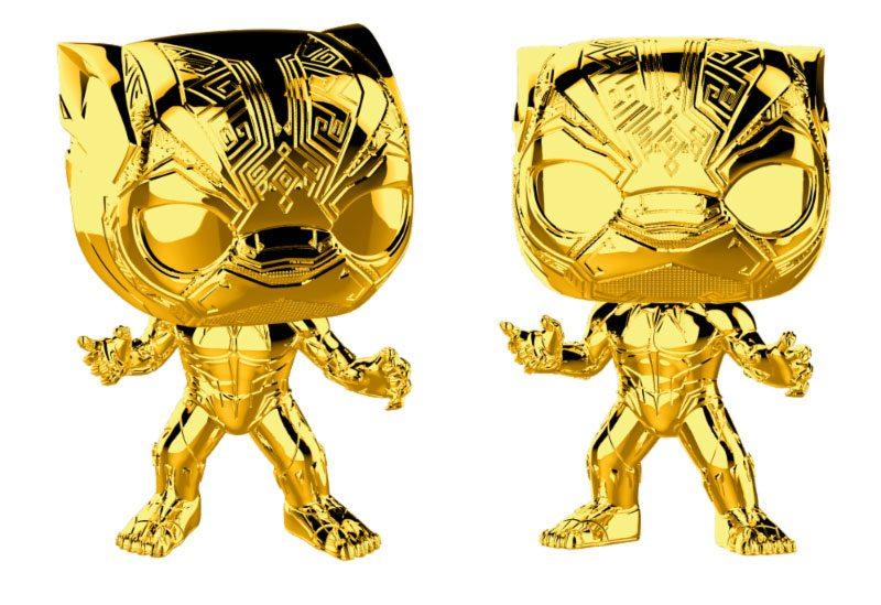 Marvel Studios 10 POP! Marvel Vinyl Figure Black Panther (Chrome) 9 cm