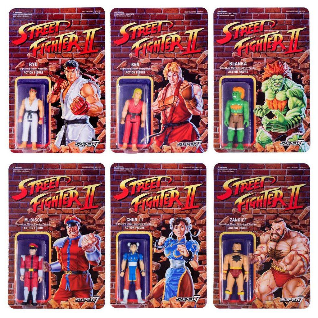 Street Fighter II ReAction Action Figures 10 cm Wave 1 Assortment (6)