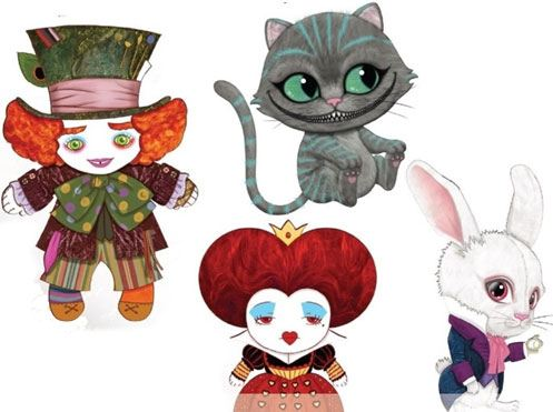Alice Through the Looking Glass Plush Figures 25 cm Assortment (12)
