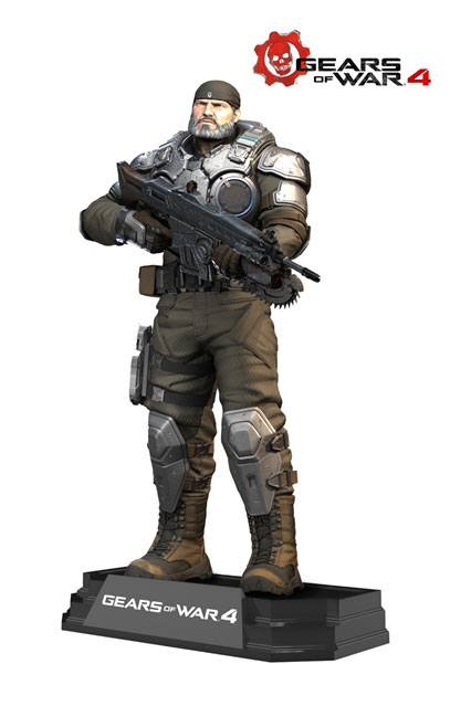 Gears of War 4 Color Tops Action Figure Marcus Fenix 18 cm --- DAMAGED PACKAGING