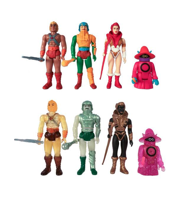 Masters of the Universe ReAction Action Figures 10 cm Castle Grayskull Blind Box Display (12)