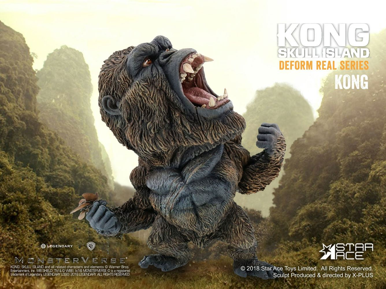 Kong Skull Island Deform Real Series Soft Vinyl Statue Kong 15 cm