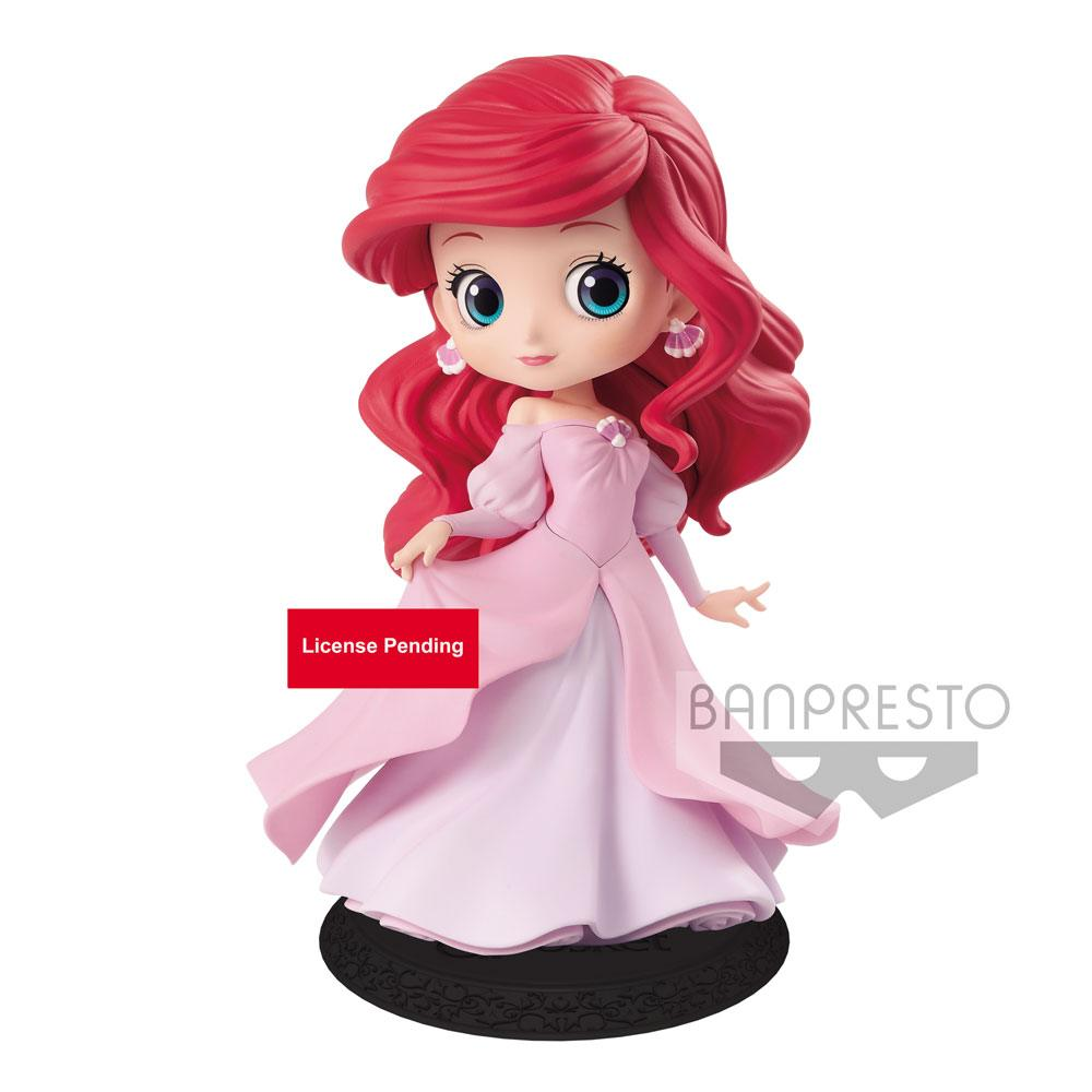 Disney Q Posket Mini Figure Ariel Princess Dress B (Pink Dress) 14 cm