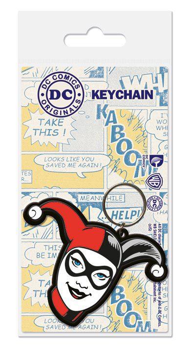 DC Comics Rubber Keychain Harley Quinn 6 cm
