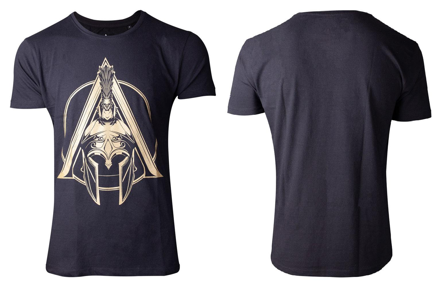 Assassin's Creed Odyssey T-Shirt Spartan Helmet Logo Size S