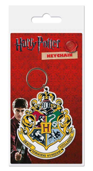 Harry Potter Rubber Keychain Hogwart's Crest 6 cm