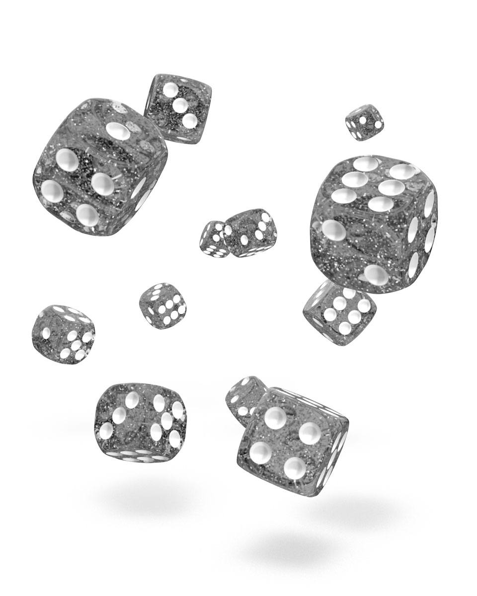 Oakie Doakie Dice D6 Dice 12 mm Speckled - Black (36)