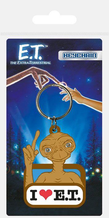 E.T. the Extra-Terrestria Rubber Keychain I Love E.T. 6 cm