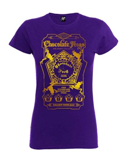 Harry Potter Ladies T-Shirt Chocolate Frogs Size L