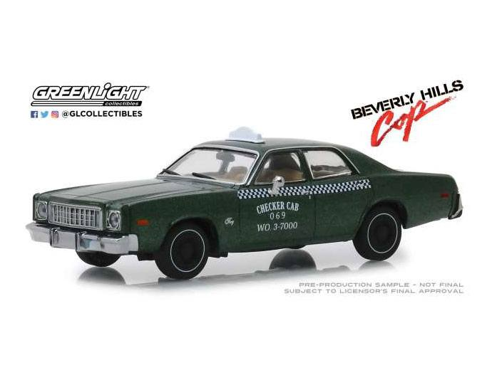 Beverly Hills Cop Diecast Model 1/43 1976 Plymouth Fury Checker Cab 069 WO. 3-7000