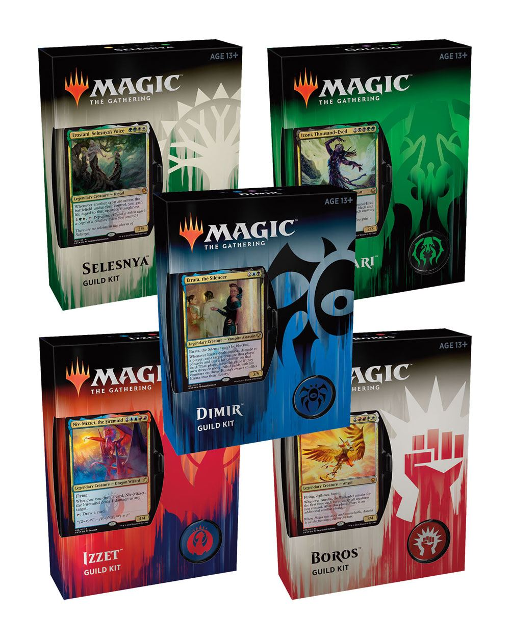 Magic the Gathering Guilds of Ravnica Guild Kits Display (5) english
