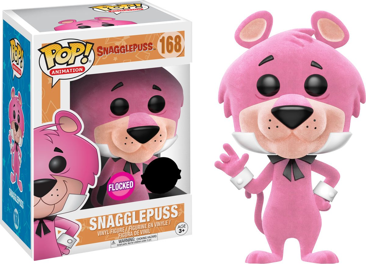 Hanna-Barbera POP! Animation Vinyl Figure Snagglepuss (Flocked) 9 cm