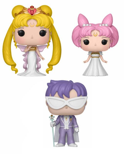 Sailor Moon POP! Animation Vinyl Figures 3 Pack Serenity, Small Lady & Endymion 9 cm