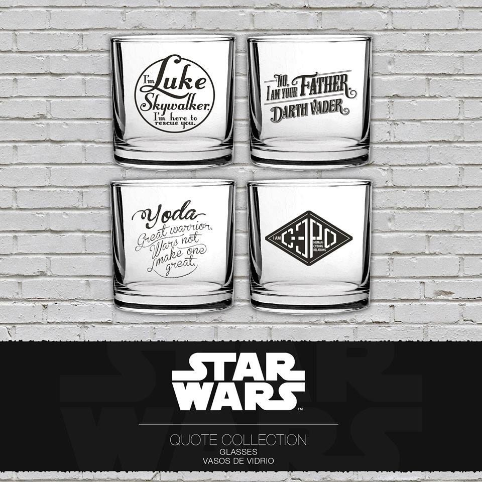 Star Wars Tumblers 4-Pack Famous Quotes